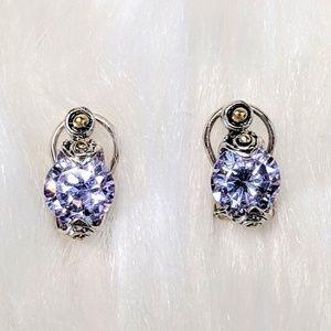 Jewelry - Contemporary Amethyst Studs